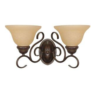 Best Choices Claycomb 2-Light Vanity Light By Fleur De Lis Living