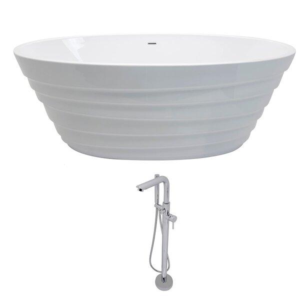 Nimbus 66.75 x 31.1 Freestanding Soaking Bathtub by ANZZI