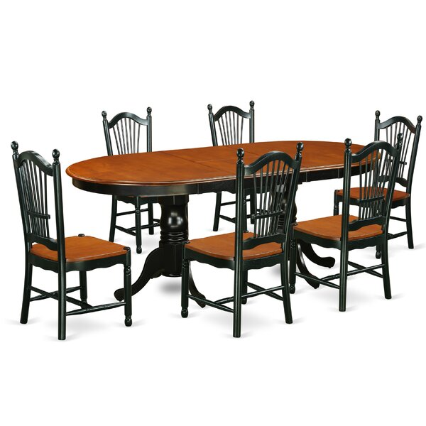 Pilcher Contemporary 7 Piece Dining Set by August Grove