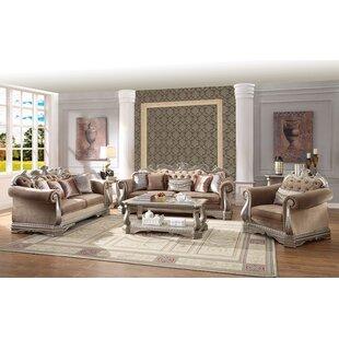 Colorado Springs 3 Piece Velvet Living Room Set by House of Hampton®