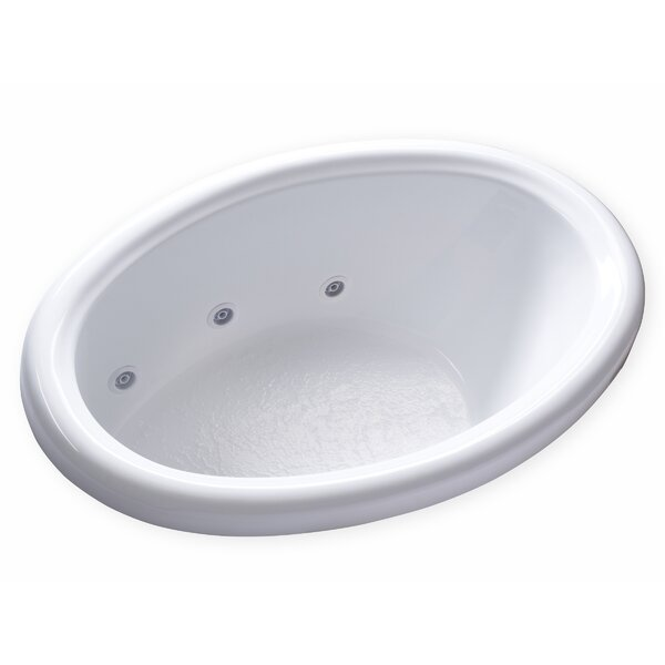 Hygienic Aqua Massage 58 x 39 Whirlpool Bathtub by Carver Tubs