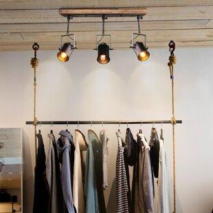 Affordable Wood Spotlight 3-Light Track Kit By LNC Home
