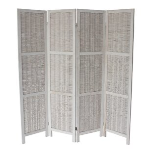 Madalynn 4 Panel Room Divider Beachcrest Home