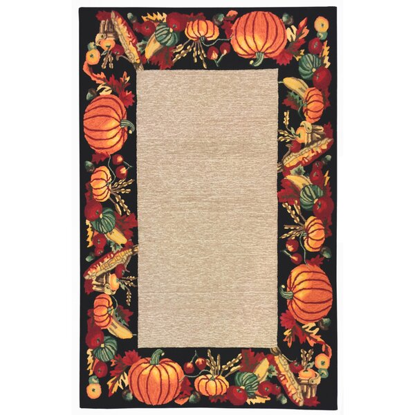 Harvest Hand-Tufted Black Indoor/Outdoor Area Rug by The Holiday Aisle