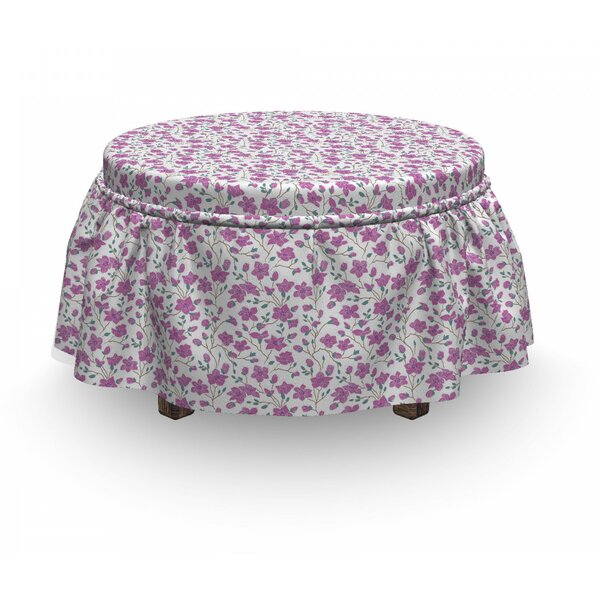 Magnolia Flower And Buds Ottoman Slipcover (Set Of 2) By East Urban Home