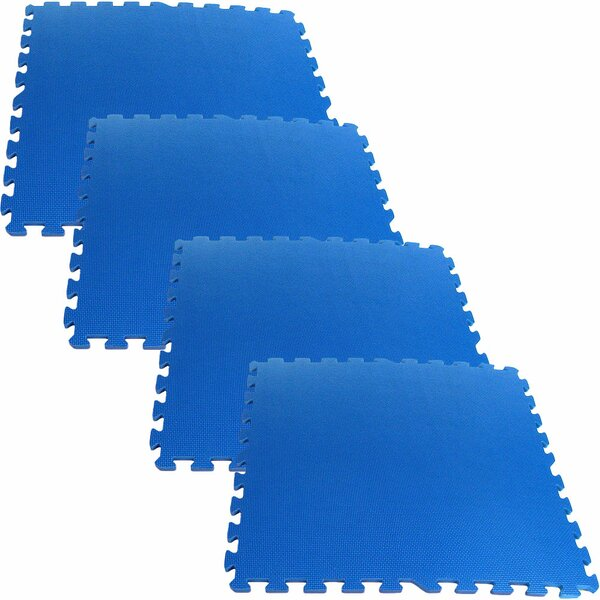 Ultimate Comfort Foam Flooring in Blue (Set of 4) by Stalwart