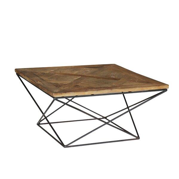Joshua Reclaimed Elm Wood Coffee Table by Modern Rustic Interiors