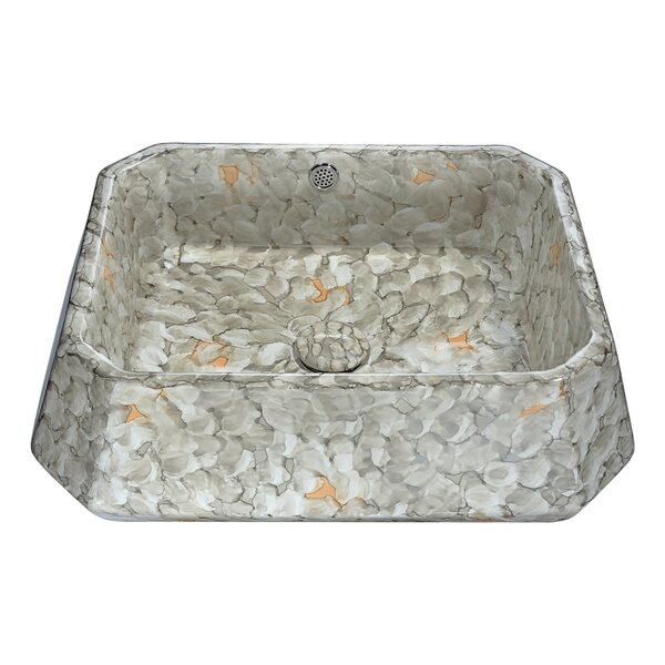 Sona Vitreous China Square Vessel Bathroom Sink by ANZZI
