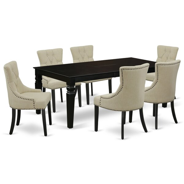 Ahull 7 Piece Extendable Solid Wood Dining Set by Winston Porter Winston Porter