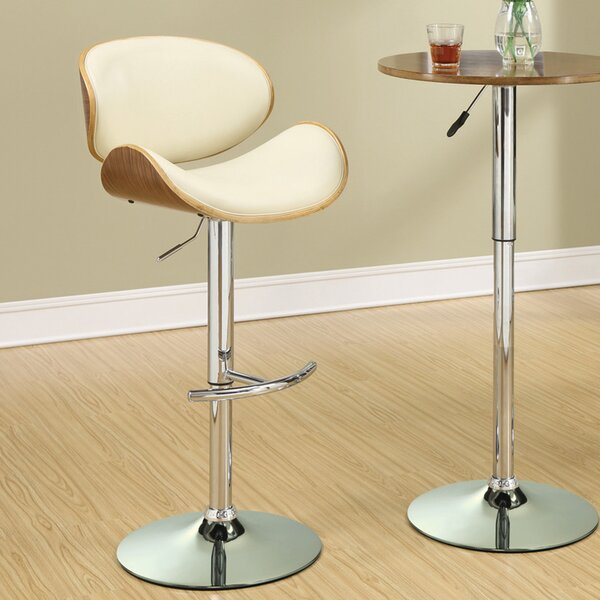 Sinclair Adjustable Height Bar Stool by Wrought Studio