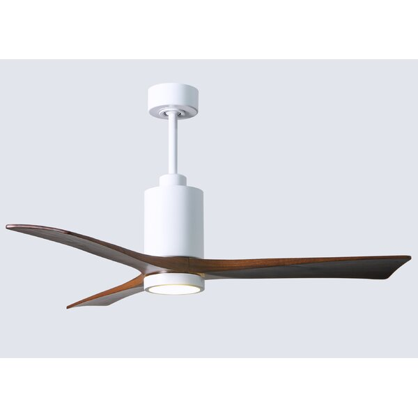 52 Patricia 3-Blade Ceiling Fan with Wall Remote by Matthews Fan Company