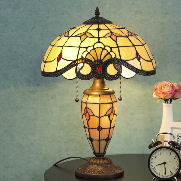 Peckover Tiffany Style 21 Table Lamp by Astoria Grand