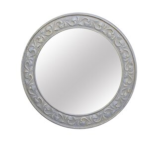 Jeco Inc. Antique Round Wall Mirror