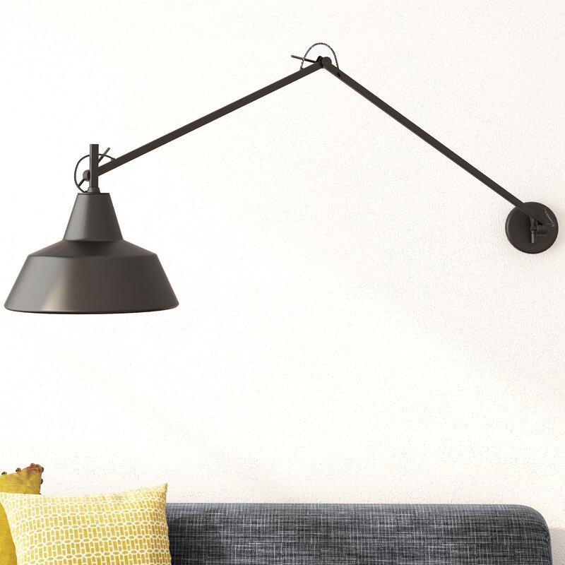 Its about romi chicago swing arm wall light reviews wayfair chicago swing arm wall light mozeypictures Image collections