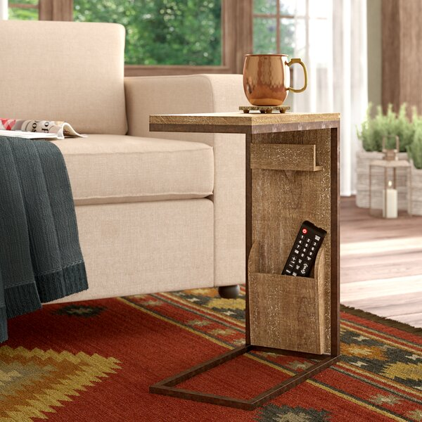Baillons Rustic Rectangular Open Framed End Table by Loon Peak