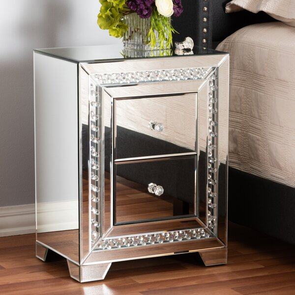 Yancy 2 Drawer Nightstand by House of Hampton