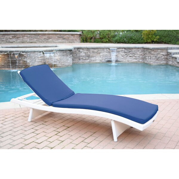 Valery Reclining Chaise Lounge with Cushion by Highland Dunes Highland Dunes