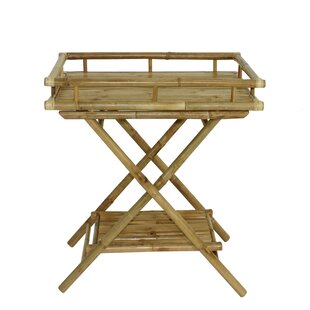 Best Choices Denisse Bamboo Butler Tray Table ByHighland Dunes