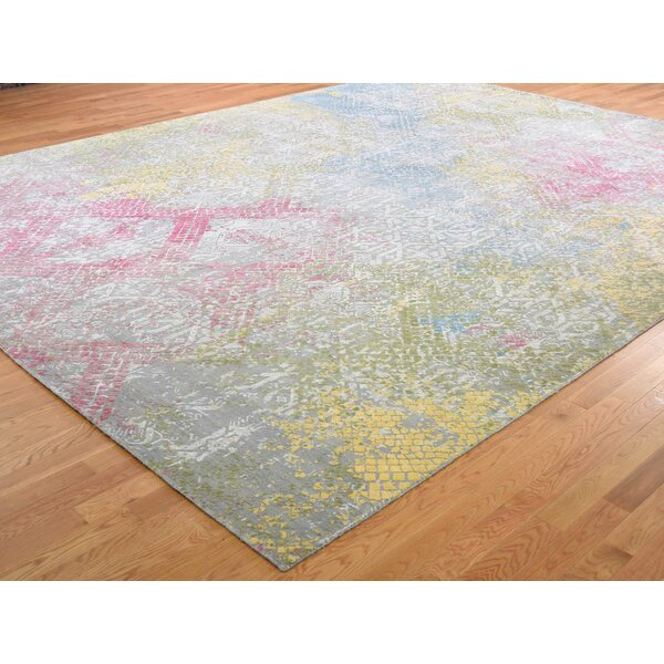 One-of-a-Kind Drubin Hand-Knotted Gray 12' x 15' Area Rug