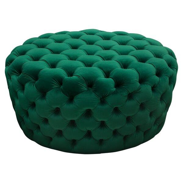 Posh Tufted Pouf by Diamond Sofa