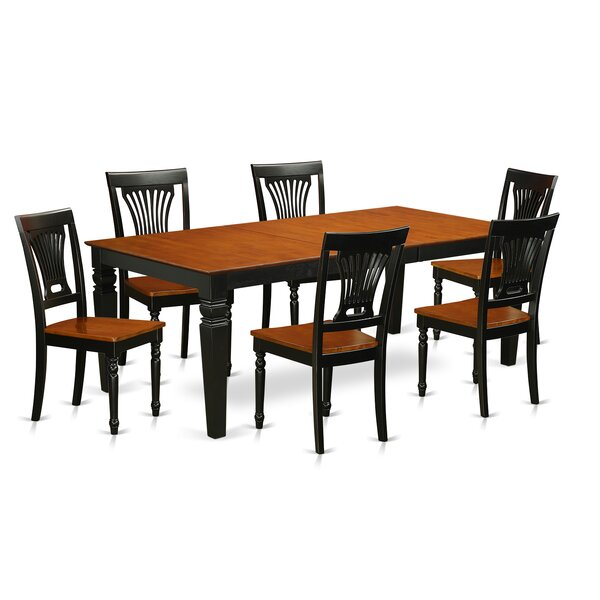 Beesley 7 Piece Extendable Solid Wood Dining Set by Darby Home Co Darby Home Co