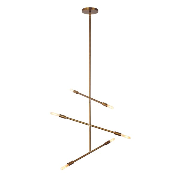 Karl 6-Light Sputnik Chandelier by Langley Street