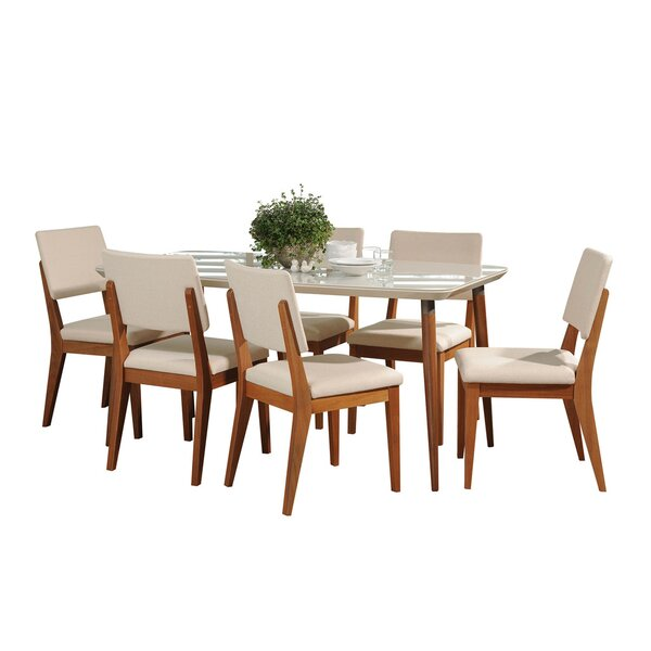 Tasker 7 Piece Solid Wood Dining Set by Union Rustic