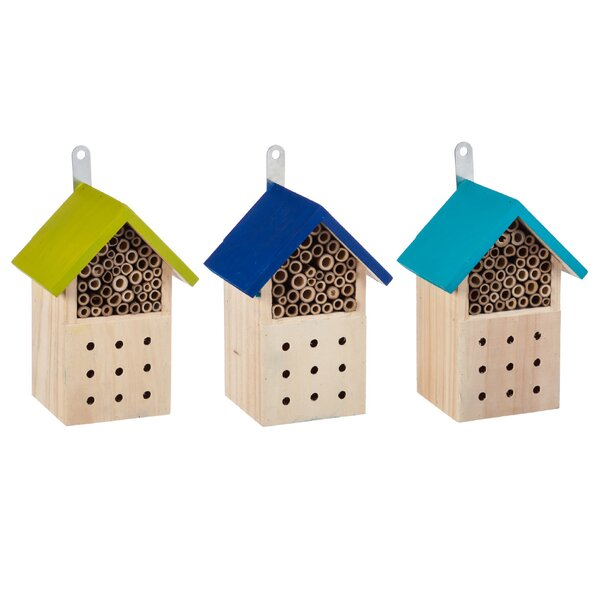 Condo 8 in x 5.5 in x 4.5 in Bumblebee House (Set of 3) by Evergreen Flag & Garden