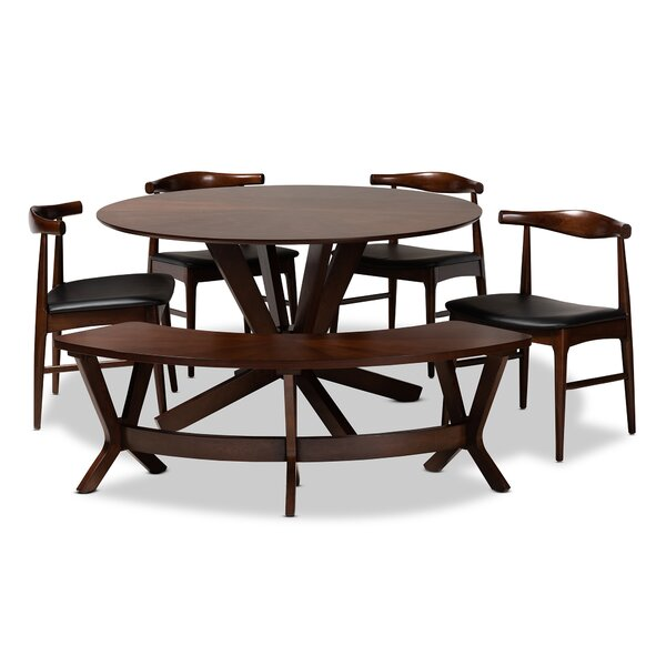 Southard Mid-Century Modern Upholstered 6 Piece Dining Set by Ivy Bronx
