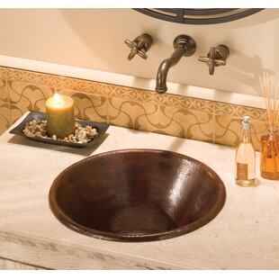 Buy clear Cazo Metal Circular Undermount Bathroom Sink By Native Trails, Inc.