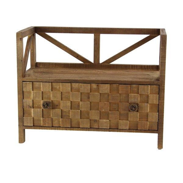 Osterley Wood Storage Bench by Gracie Oaks