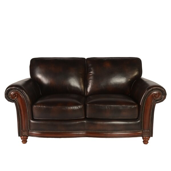Century Leather Loveseat by Lazzaro Leather