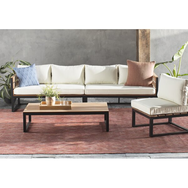 4 Piece Sectional Set with Cushions by Home Loft Concepts