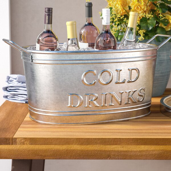 Snediker Galvanized Cold Drinks Oval Tub by Darby Home Co