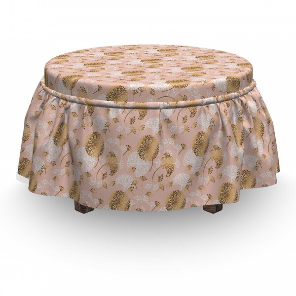 Low Price Box Cushion Ottoman Slipcover