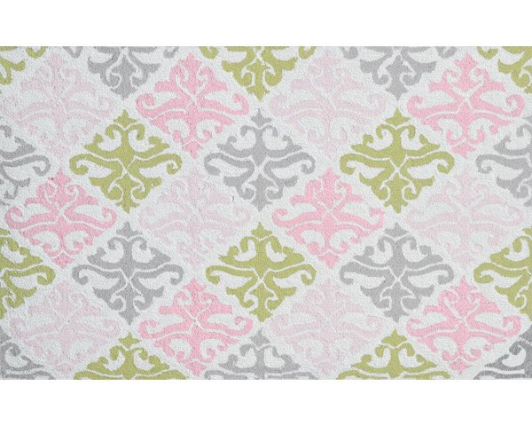 Hand-Hooked Pink/Green Area Rug by The Conestoga Trading Co.