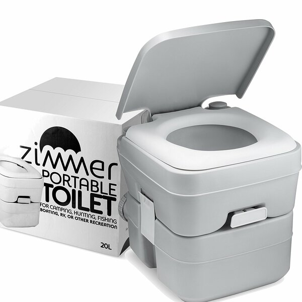 Comfort Portable 0.1 GPF Round One-Piece Toilet by ZIMMER