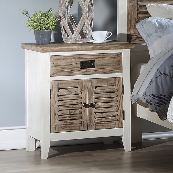 Matthews 1 Drawer Nightstand by Rosecliff Heights