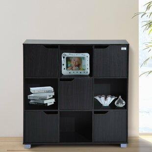 Thiessen 9-Cubby Storage Organizer Cube Unit Bookcase Red Barrel Studio