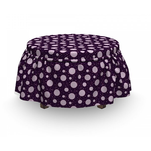 Circles Dots Short Lines Ottoman Slipcover (Set Of 2) By East Urban Home
