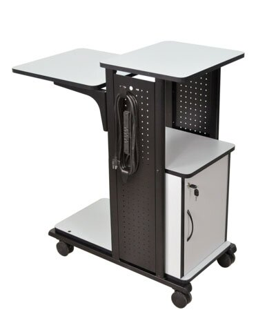 Gray/Black Mobile Presentation Station by AmpliVox Sound Systems