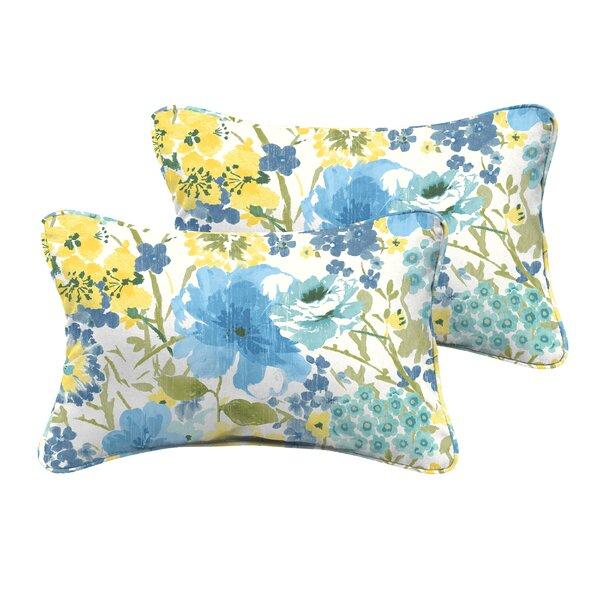 Kerrick Indoor/Outdoor Lumbar Pillow (Set of 2) by Winston Porter