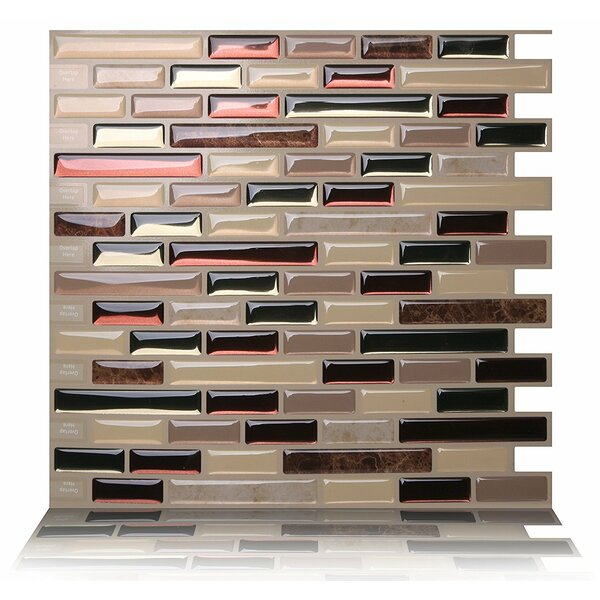 Como 9.5 x 10 Peel & Stick Mosaic Tile in Mare by Tic Tac Tiles