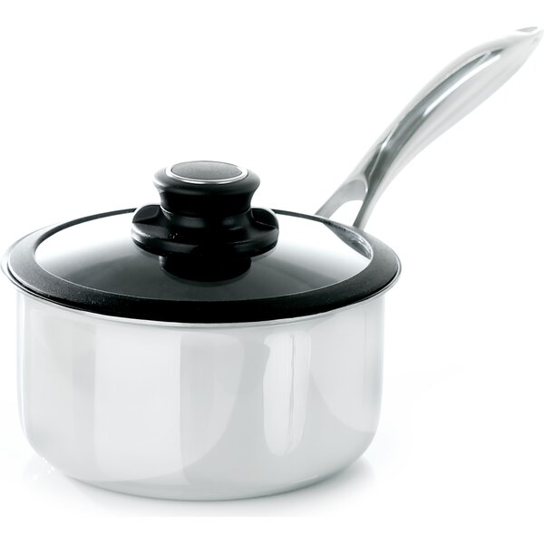 Black Cube Saucepan with Lid by Frieling