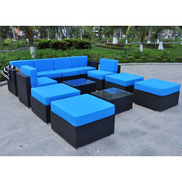 Shildon Outdoor All-Weather 12 Piece Sectional Seating Group with Cushions by Ivy Bronx