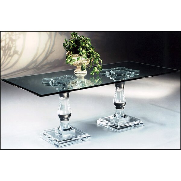 Tesoro Double Pedestal Dining Table by Canora Grey Canora Grey