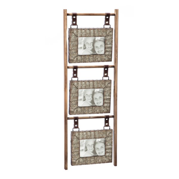 Eliska Wood and Metal Hanging Wall Picture Frame (Set of 3) by 17 Stories