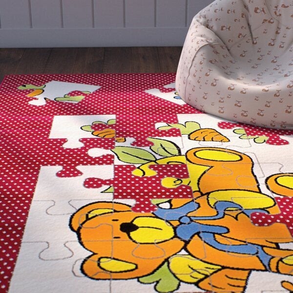 Luann Red Area Rug by Zoomie Kids