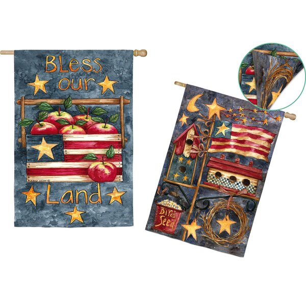 Bless Our Land Garden Flag by Evergreen Enterprises, Inc