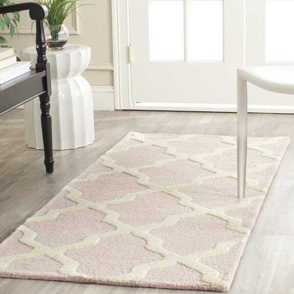 Kauffman Light Pink/Ivory Area Rug by Harriet Bee